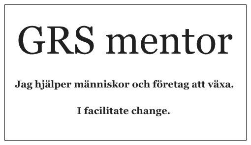 GRS mentor